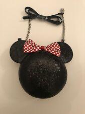 Disney Minnie Maus Damen Glitzer Handtasche Schultertasche Lizenziert Primark