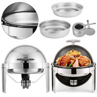 2Pack Food Chafing Dish Bain Marie Bow Stainless Steel Buffet Warmer 6.8L