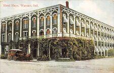 A49/ Warsaw Indiana In Postcard 1912 Hotel Hays Building