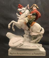 Rare Napoleon Bonaparte Crossing the Alps Scheibe-Alsbach Porcelain Figurine
