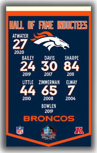 Denver Broncos Football Team Hall Of Fame Induct Flag 90x150cm3x5ft Super Banner