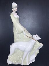 Reflections by Royal Doulton Hn3073 Strolling Woman Walking Dog Figurine 13 1/2""