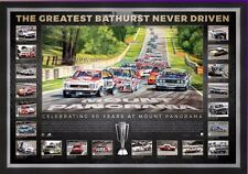 BATHURST THE GREATEST RACE NEVER DRIVEN ENHANCED DELUXE LITHOGRAPH FRAMED PRINT