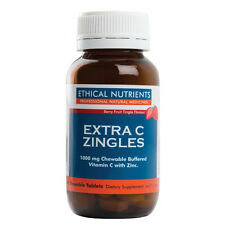 ETHICAL NUTRIENTS EXTRA C ZINGLES 50 CHEWABLE TABLETS BERRY FRUIT TINGLE FLAVOUR