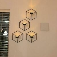 Geometric Candlestick Metal Wall Tealight Candle Holder Sconce Home Decor Crafts