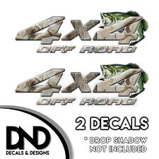 Camo Bass 4x4 Wraps Off Road Decals 2 Pk Sticker Ford Chevy truck - D&1BF
