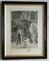 Walter Dendy Sadler & W. H. Boucher Signed - Home Brewed Antique Etching Framed