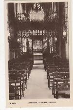 Interior Clumber Church Vintage RP Postcard 481a