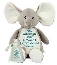 "Personalised 16"" Elephant Tooth Fairy Friend Teddy Bear + Pouch Birthday NewBaby"
