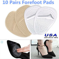 10 Pairs Metatarsal Pad Ball of Foot Cushion Forefoot Shoe Insoles Pain Relief