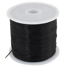 Black Stretchy Elastic Crystal String Beading Thread Spool 50M AD