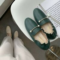 Womens Round Toe Loafers Flat Heel Elastic Casual Work Party Simple Mules Shoes
