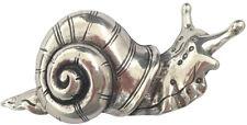 Gürtelschnalle Schnecke silber, Gürtelschließe massiv Metall
