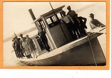 Real Photo Postcard RPPC - People on Pilot Boat