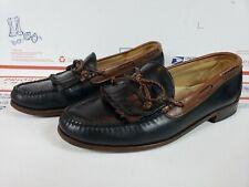 Allen Edmonds Mens Leather Fringe Loafer Dress Shoes Black Brown Size 9 E 9E