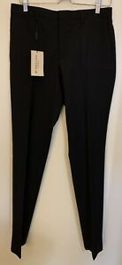 "Burberry London Women's Black Trouser Pants Unhemmed Size 38 US (30"" Waist)"