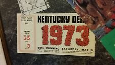 SECRETARIAT,KENTUCKY DERBY ADMISSION TICKET, PROGRAM ARTWORK, ORIGINAL PIECE