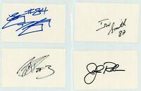 NFL Autographed Index Card Lot - 5 Autos - Football - JOHN ROBINSON