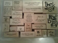 Lot of 21 Stampin Up Word Stamps