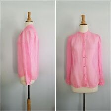 Juicy Couture MOONLIGHT STRIPE pink BLOUSE silk size XS