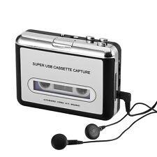 Cassette Tape-to-MP3 Converter - Plug and Play, Win + Mac Compatible, Auto Rever