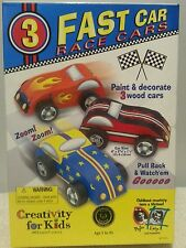 Creativity For Kids Fast Car Race Cars Kit #1165 FREE SHIPPING B152 NEW IN BOX