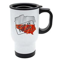 Made In Poland Thermal Travel Mug - White Stainless Steel