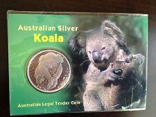 2007 Australia Koala $1 1oz .999 Fine Silver Carded Bullion Coin Key Date