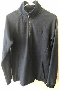 Under Armour Mens Blue 1/2 Zip Pullover Knit Sweatshirt Small NWT