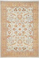 6X9 Hand-Knotted Lahore Carpet Oriental L/Blue Fine Wool Area Rug D25082