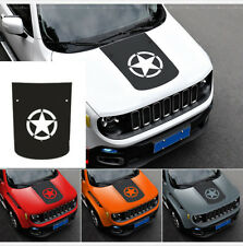 Vinyl Star Hood Carbon Fiber Sticker Decal For Jeep Renegade 2015 2016 2017