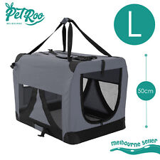 Pet Dog Soft Crate Portable Carrier Travel Cage Tent Kennel Folding L GY