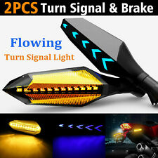 Motorcycle 12LED Turn Signals Indicator Light Universal Two Side Sequential Flow