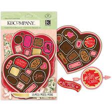 K&Co CUPID Die-Cut Card stock 15p EK Success Wedding Valentine Invite Scrapbook