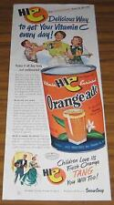 1950 AD~HI-C ORANGE-ADE DRINK~MOM & KIDS ENJOY