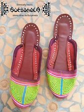 Ethno Nomad tribal Chaussures slipper Chaussures Cuir Cuir Inde Hippie Goa 37 38