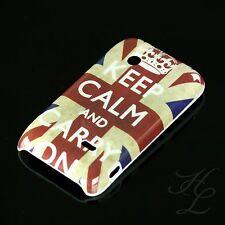 Sony Ericsson st21i xperia typo funda rígida, funda protectora, estuche, funda keep Calm Carry On