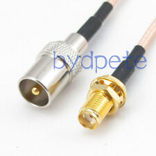TV male plug to SMA female jack RF RG316 Coaxial Cable Pigtail Jump 8inch 20cm