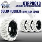 12x16.5 Non-Marking Solid Skid Steer Tires 4 Tires w/ Wheels 33x12-20 for Case