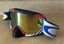 Vintage 80's 90's Oakley Goggles Red White Blue Racing BMX Sky Rare
