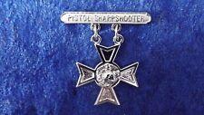 ^ (a8-156) US Marine Corps schiessabzeichen Pistol Sharpshooter