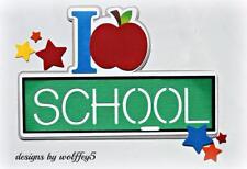CRAFTECAFE SCHOOL KID TITLE premade paper piecing scrapbook page diecut  WOLFFEY