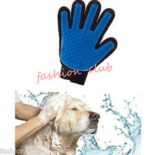 Pet Cat Dog Silicone Shedding Brush Glove Bathing Massage Grooming Groomer Combs