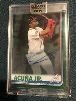 2019 Topps Clearly Authentic Auto Green Ronald Acuna Jr On Card #/99