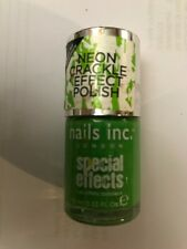nails inc neon green crackle effect polish solo square new unopened
