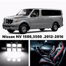 19pcs LED Xenon White Light Interior Package Kit for Nissan NV 1500,3500 .2016