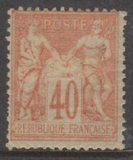 France - 1881, 40c Red/Yellow Rose stamp - M/M - SG 269 or 270