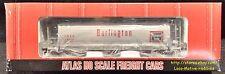 Atlas 1932-01  BURLINGTON ROUTE 3-Bay ACF Cylindrical Hopper  CB&Q 85401 CBQ NIB