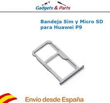 Bandeja Soporte Sim y Micro SD para Huawei Ascend P9 Plata- Nueva !!!