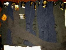 mens dress Gold Medal knee socks 12 pairs size 10-13 black blue nylon lot